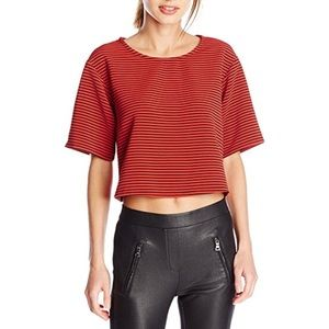 Stripped Black/Red Boxy Crop Top